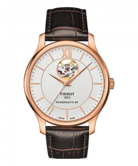 Tissot T- Tradition Powermatic 80 Open Heart Relógio Homem Automatic T063.907.36.038.00