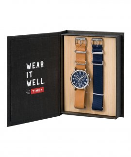 Timex Weekender Chronograph Relógio Homem Gift Set TWG012800