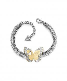 Guess Love Butterfly Joia Pulseira Mulher UBB78052-S