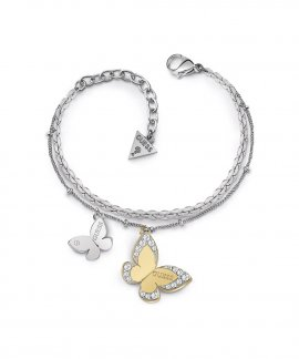 Guess Love Butterfly Joia Pulseira Mulher UBB78056-S