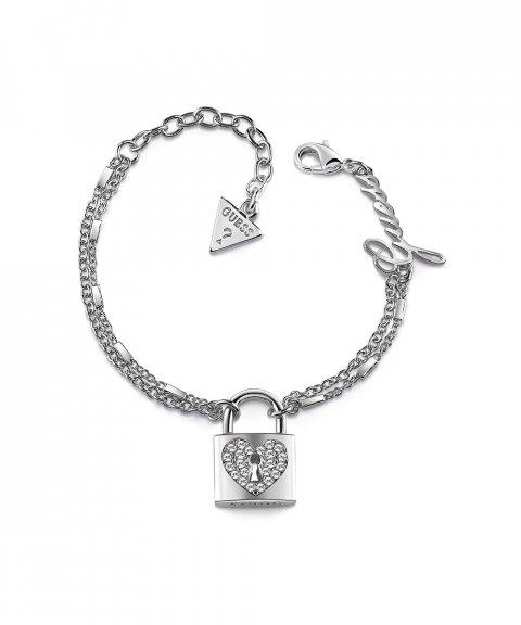 Guess Heart Lock Joia Pulseira Mulher UBB85116-S