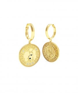 Guess Coin Joia Brincos Mulher UBE79156