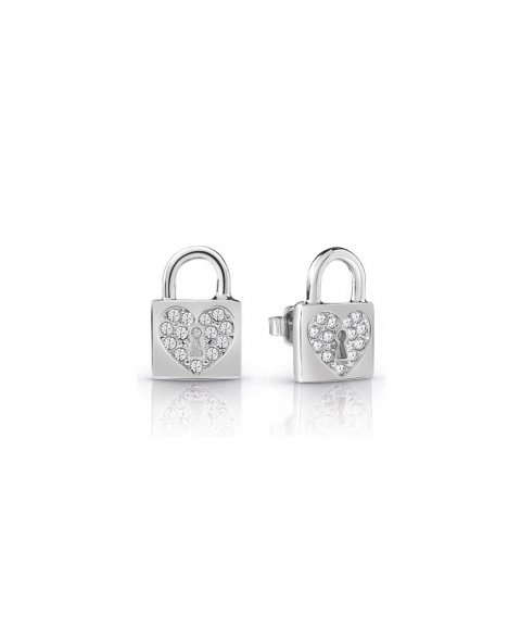 Guess Heart Lock Joia Brincos Mulher UBE85053