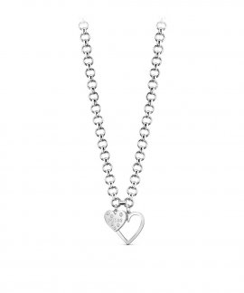 Guess Heart in Heart Joia Colar Mulher UBN84012