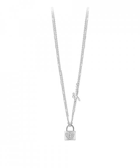 Guess Heart Lock Joia Colar Mulher UBN85059
