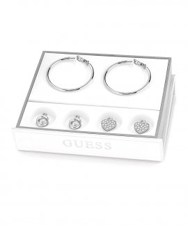 Guess Hoops I Did It Again Set Joia Brincos Mulher UBS84008