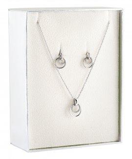 Unike Jewellery Classy Circle Set Joia Colar Brincos Mulher UK.PK.1204.0005