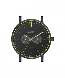 Watx and Co 44 Analogic Glow Black Yellow Relógio WXCA2729