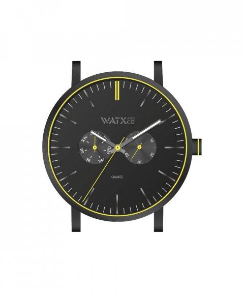 Watx and Co 44 Analogic Glow Black Yellow Relógio WXCA2729