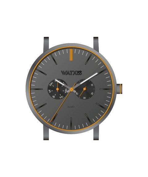 Watx and Co 44 Analogic Glow Black Orange Relógio WXCA2731