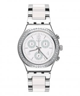 Swatch Time to Swatch Made in White Relógio Mulher Chronograph YCS119G