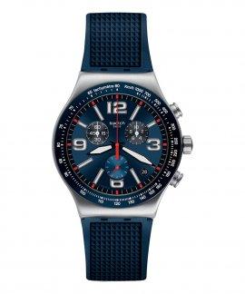 Swatch Irony Blue Grid Relógio Homem Chronograph YVS454