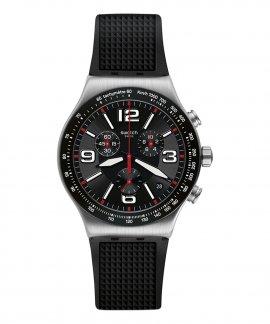 Swatch Irony Very Dark Grid Relógio Homem Cronógrafo YVS461