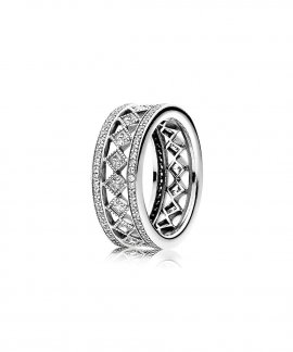 Pandora Vintage Fascination Jewel Ring Ladies 191007CZ