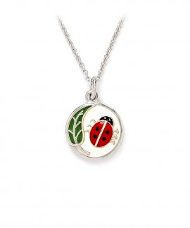 Chrysalis Ladybug Jewel Necklace Ladies Girl CRNC0006SP